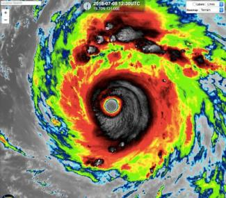 Super Typhoon Maria in the Pacific.CIMMS