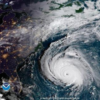 Hurricane Florence is a large storm approaching the United States NOAA