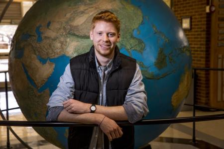 Sam Tingle is working toward degrees in geography and entertainment and media studies. (Photo by Chad Osburn/UGA)