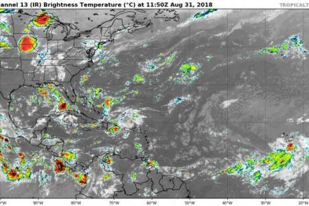 Satellite imagery tropical activity