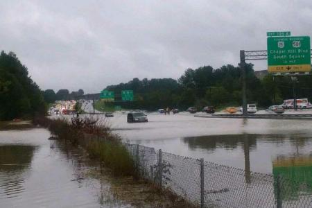 Flooding in the Durham, NC area from Florence