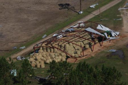 Damage to agriculture industry in Georgia because of Hurricane Michael
