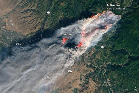 The Camp Fire in California on November 8thNASA