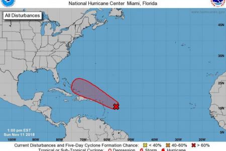 A potential threat in the tropical Atlantic for pre-Thanksgiving week.NOAA